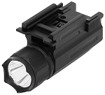 NC Star LED Flashlight for Pistols/Rifles w/ Weaver Style Mount and Quick Release