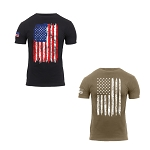 Rothco 'Distressed US Flag' Athletic Fit T-Shirt