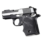 Hogue SIG Sauer P938 Ambi Safety Rubber Grip with Finger Grooves Black - 98080