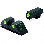 Meprolight Glock Tru-Dot night Sight Set  - Glock 42/43 Height 6.6 ML10220 - Green/Green