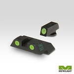 Meprolight Glock Tru-Dot night Sight Set  - Glock 26 & 27 - Green/Green ML10226