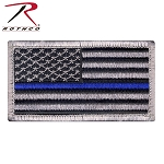 Rothco Thin Blue Line Police U.S. Flag Patch