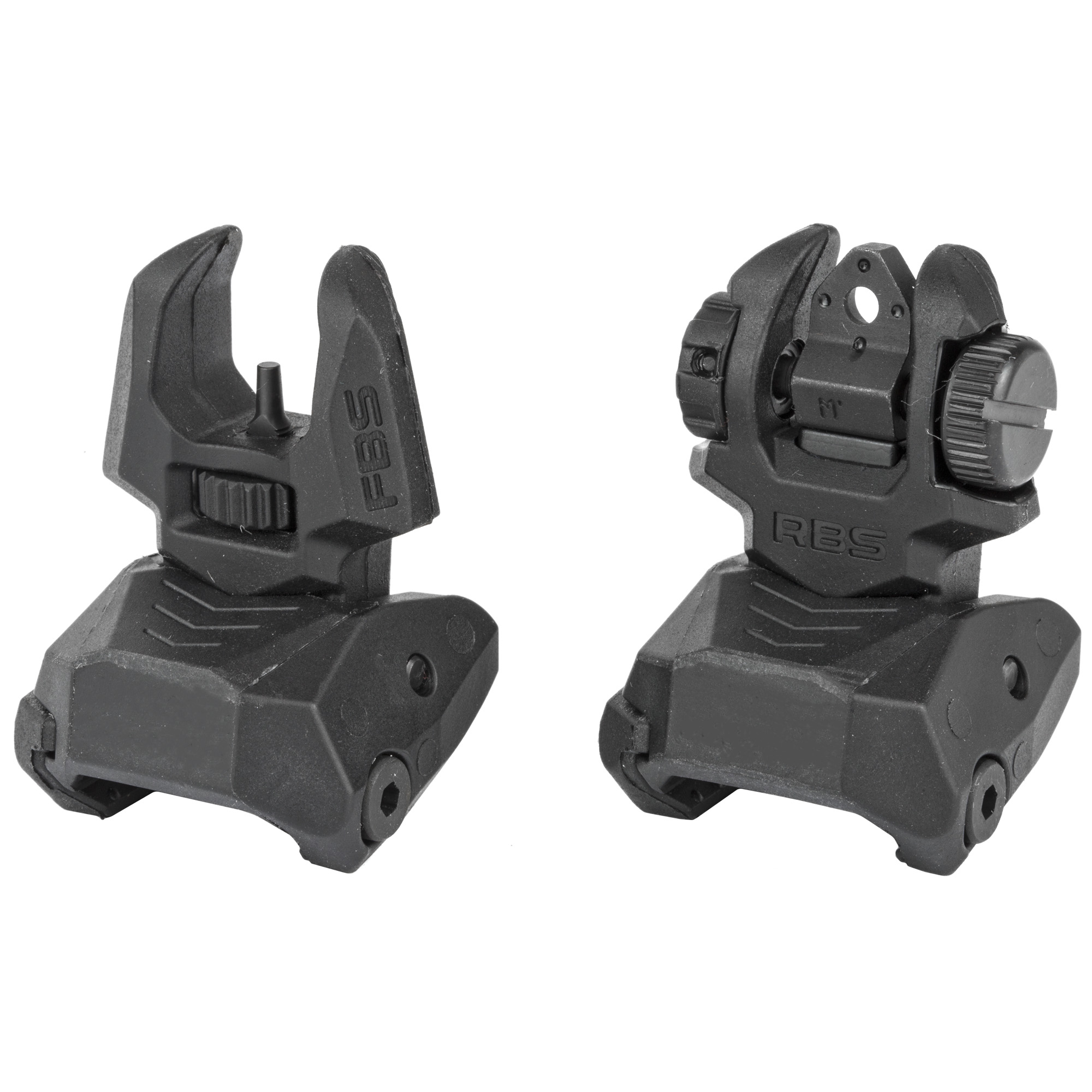 Meprolight FRBS Flip-Up Night Sight Set AR-15 4-Dot Rear Tritium Green Polymer Black