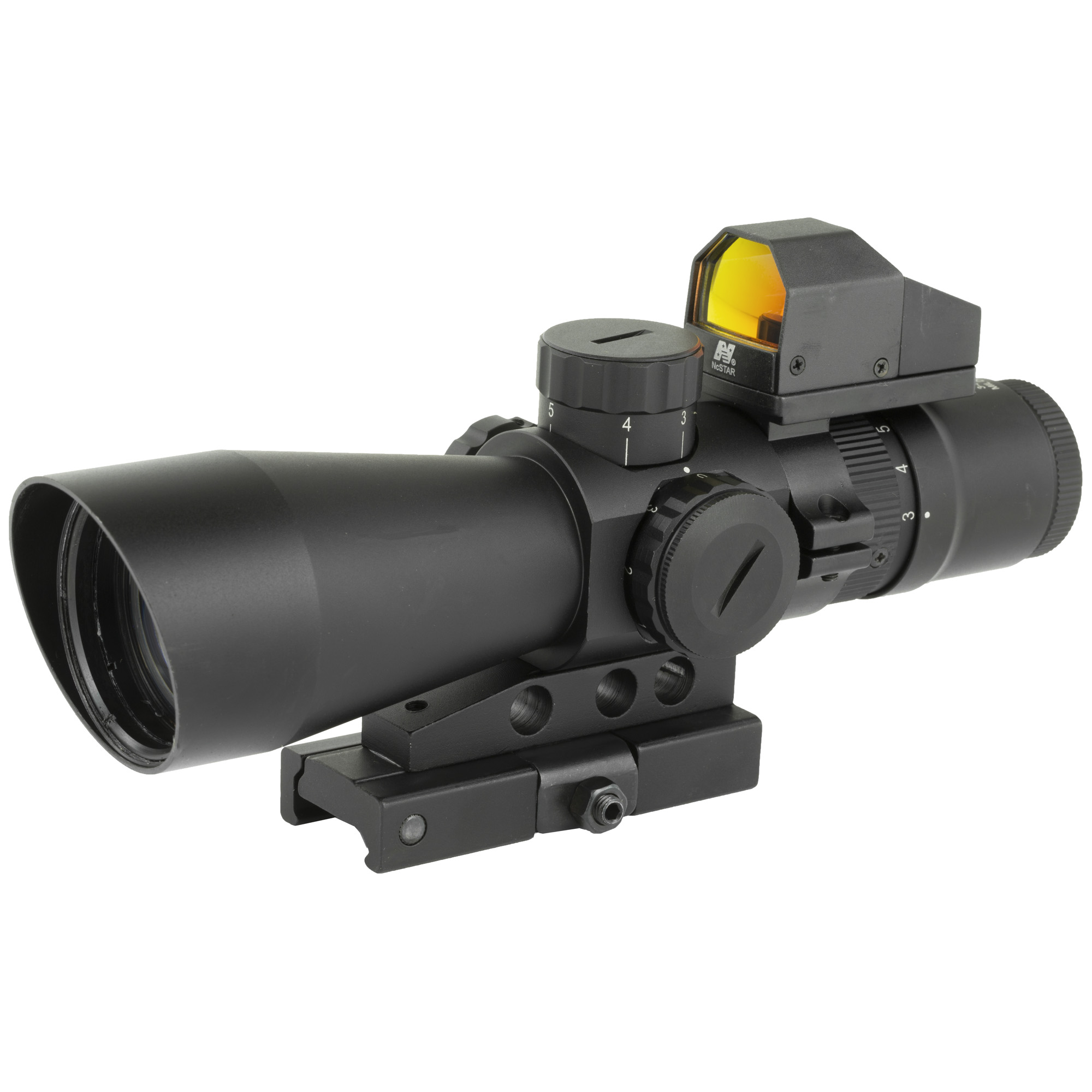 NcSTAR USS Gen II 3-9x42mm Riflescope Illuminated Mil-Dot Reticle Micro Red Dot 0.5 MOA Adjustments Second Focal Plane Mount Included