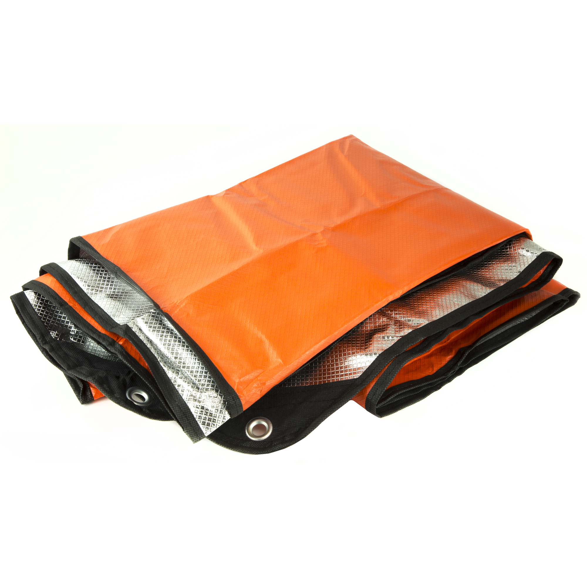 Ultimate Survival Technologies Survival Blanket 2.0, Polyethylene/reinforced fabric/metalized polyester, Orange and Silver Reflective
