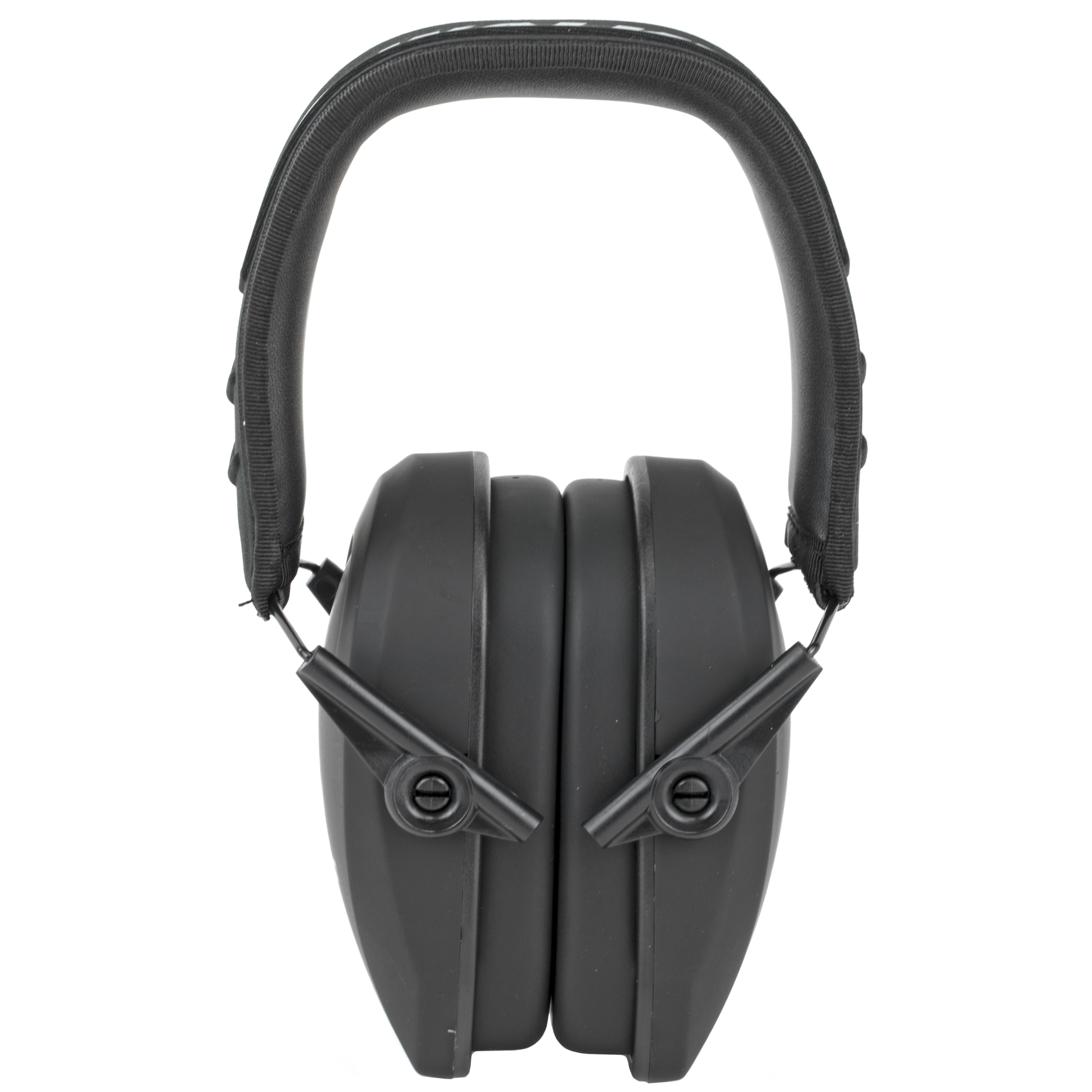 Walker's Game Ear Razor Slim Series Passive Adult Folding Earmuffs Matte Black Finish