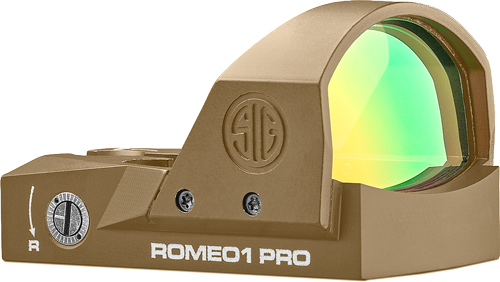 SIG Sauer ROMEO 1 PRO Micro Red Dot Sight 6 MOA Red Dot FDE