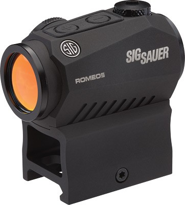 Sig Sauer ROMEO5 Compact Red Dot Sight 1x 20mm 1/2 MOA Adjustments 2 MOA Dot Reticle Picatinny-Style Mount Black