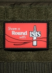 Nine Line Apparel 'Share A Round With ISIS' Rubber Morale Patch