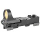 C-MORE Railway Click Red Dot Sight 8 MOA Weaver Picatinny Mount Polymer Black