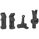 Midwest Industries AR-15 Combat Rifle Offset Sight Set Fully Ambidextrous 6061