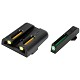 TRUGLO GLOCK TFO Tritium and Fiber Optic Brite-Site Night Sight Set Green Front/Yellow Rear