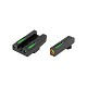 TRUGLO TFX Pro GLOCK 42/43 Front and Rear Set Green TFO Night Sights Orange Ring