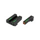 TRUGLO TFX Pro SIG Sauer #8/#8 Front and Rear Set Green TFO Night Sights Orange Ring